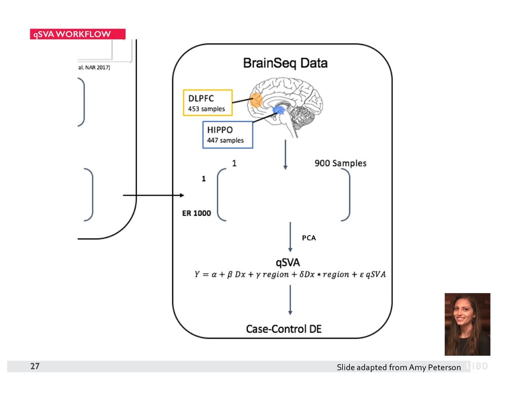 qSVA WORKFLOW 27 PCA Slide adapted from Amy Pet...