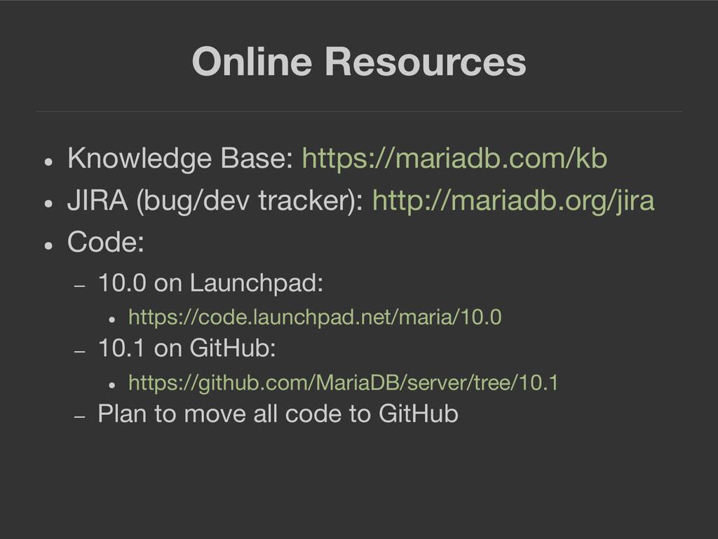 Online Resources ● Knowledge Base: https://mari...
