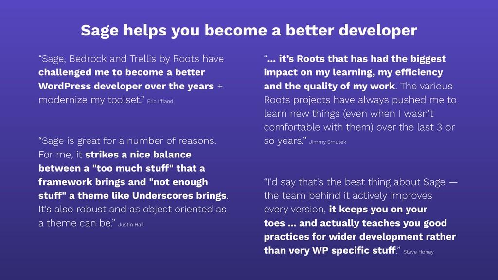 "Sage helps you become a better developer ""Sage,..."
