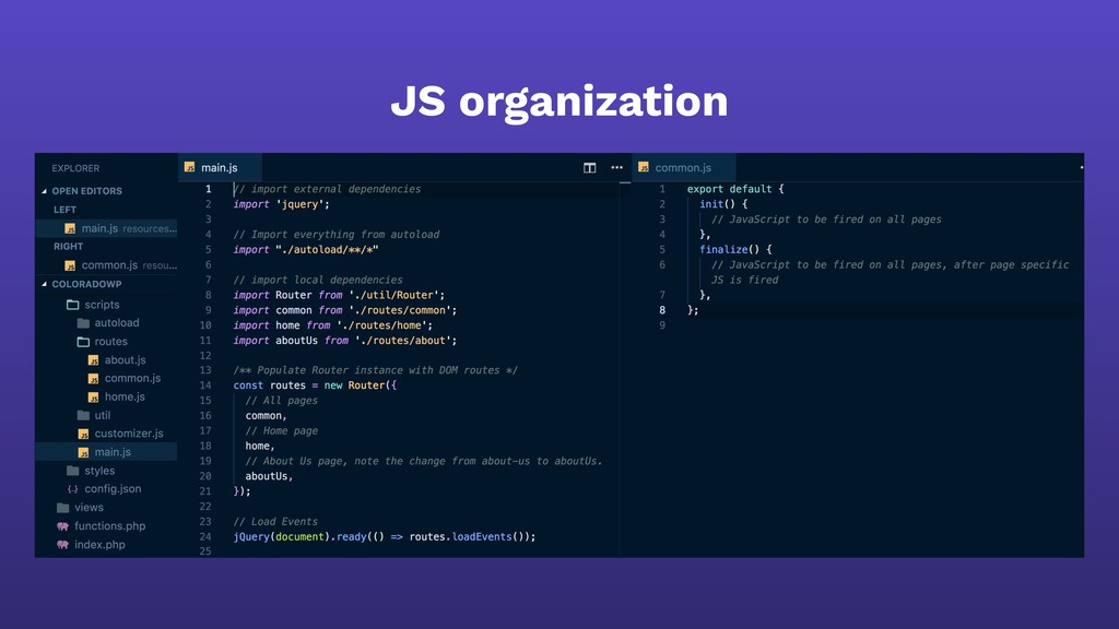 JS organization