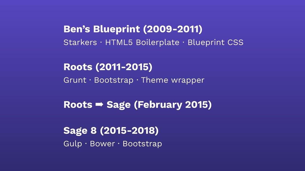 Ben's Blueprint (2009-2011) Starkers · HTML5 Bo...