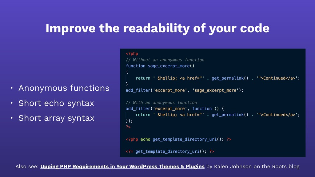 Improve the readability of your code • Anonymou...