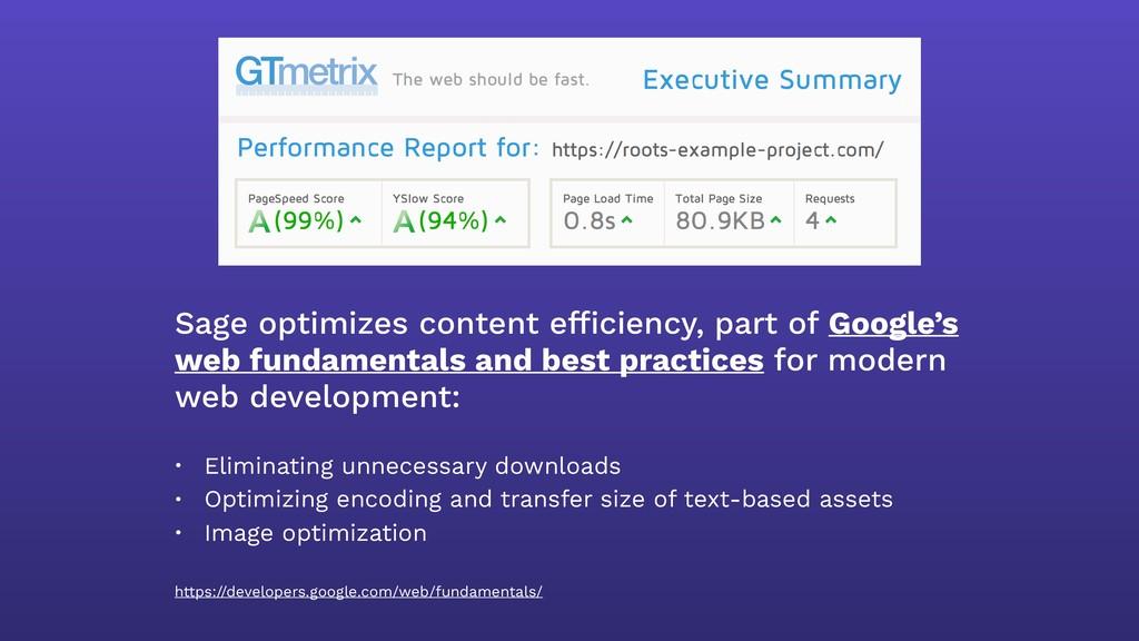 Sage optimizes content efficiency, part of Googl...