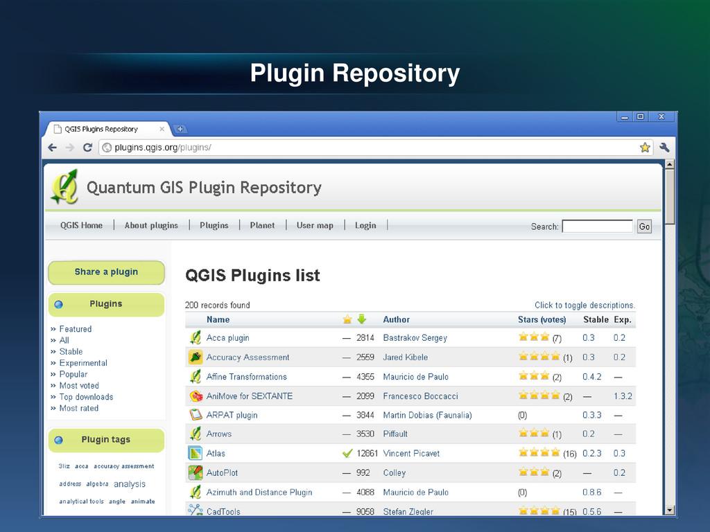 Plugin Repository