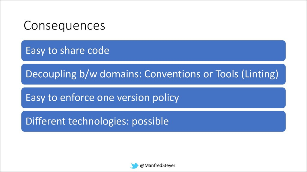 @ManfredSteyer Consequences Easy to share code ...