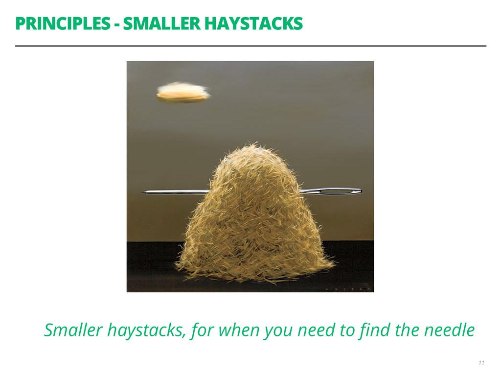 PRINCIPLES - SMALLER HAYSTACKS 11 Smaller hayst...