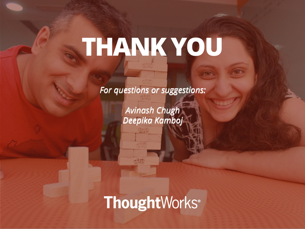 For questions or suggestions: Avinash Chugh Dee...