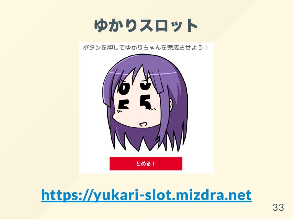 ゆかりスロット https://yukari-slot.mizdra.net 33
