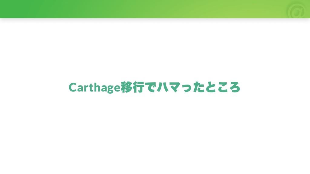 Carthage 移行でハマったところ