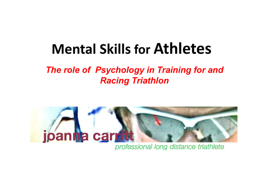 Mental Skills for Athletes  The rol...
