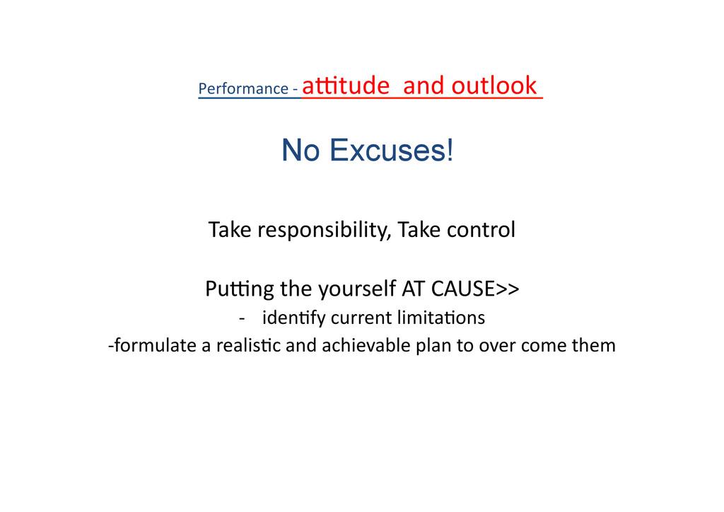 Take responsibility, Take control  ...
