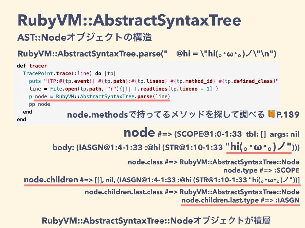 node.methodsͰͬͯΔϝιουΛ୳ͯ͠ௐΔ P.189 node #=> (SC...