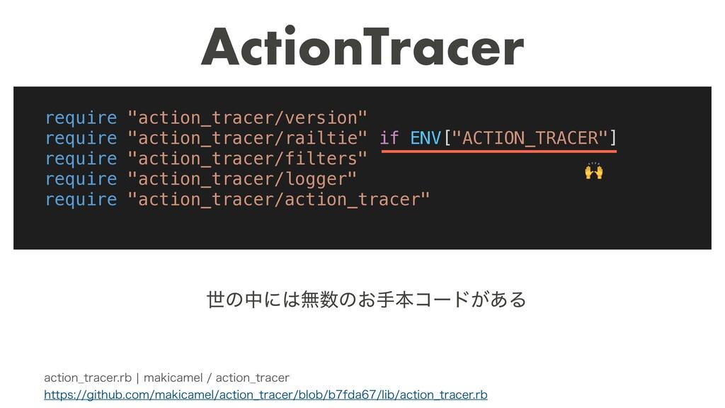 ActionTracer BDUJPO@USBDFSSCcNBLJDBNFMBDU...