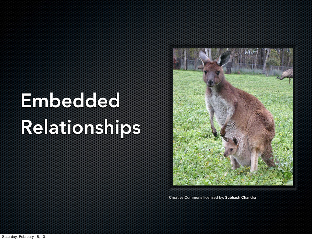 Embedded Relationships Creative Commons license...