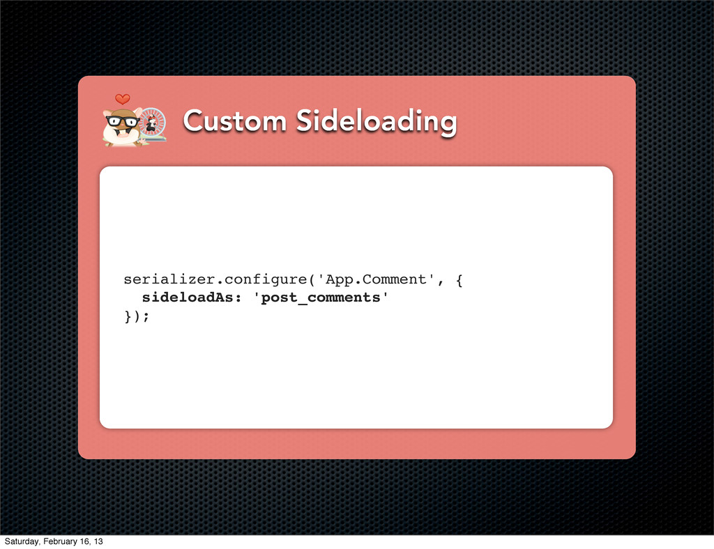 Custom Sideloading serializer.configure('App.Co...