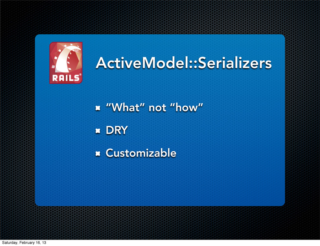 """What"" not ""how"" DRY Customizable ActiveModel::..."
