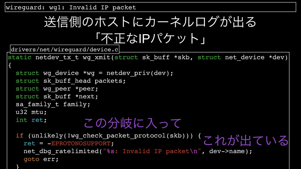 wireguard: wg1: Invalid IP packet ʮෆਖ਼ͳIPύέοτʯ s...