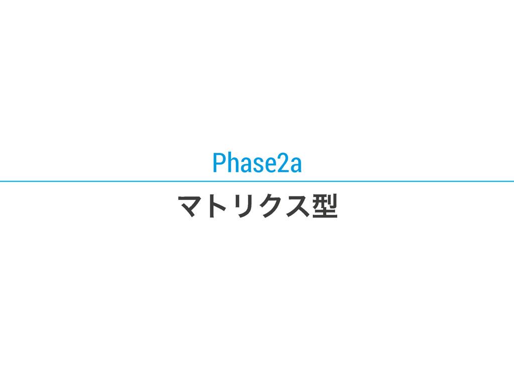 Phase2a ϚτϦΫεܕ