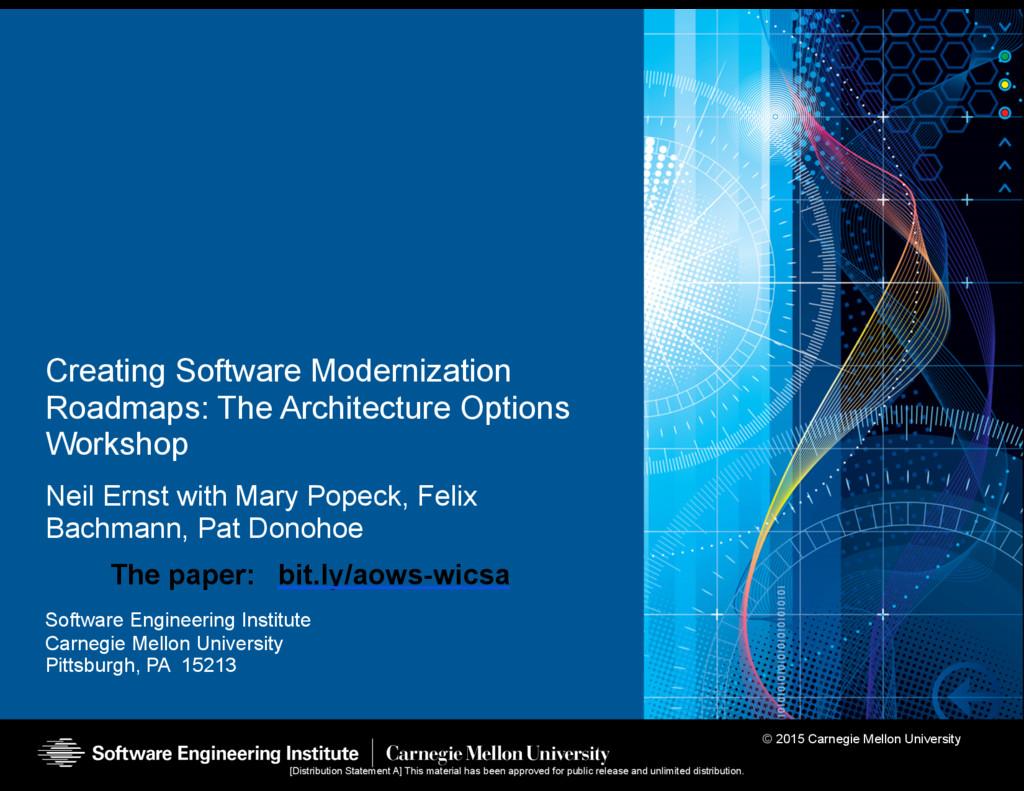 © 2015 Carnegie Mellon University Software Engi...