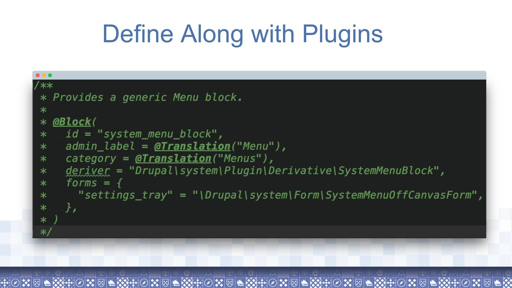 Define Along with Plugins