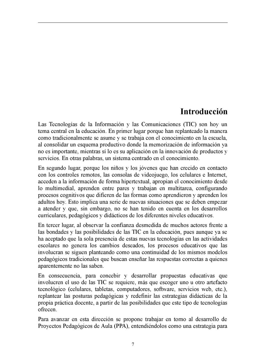 Introducción Las Tecnologías de la Información ...
