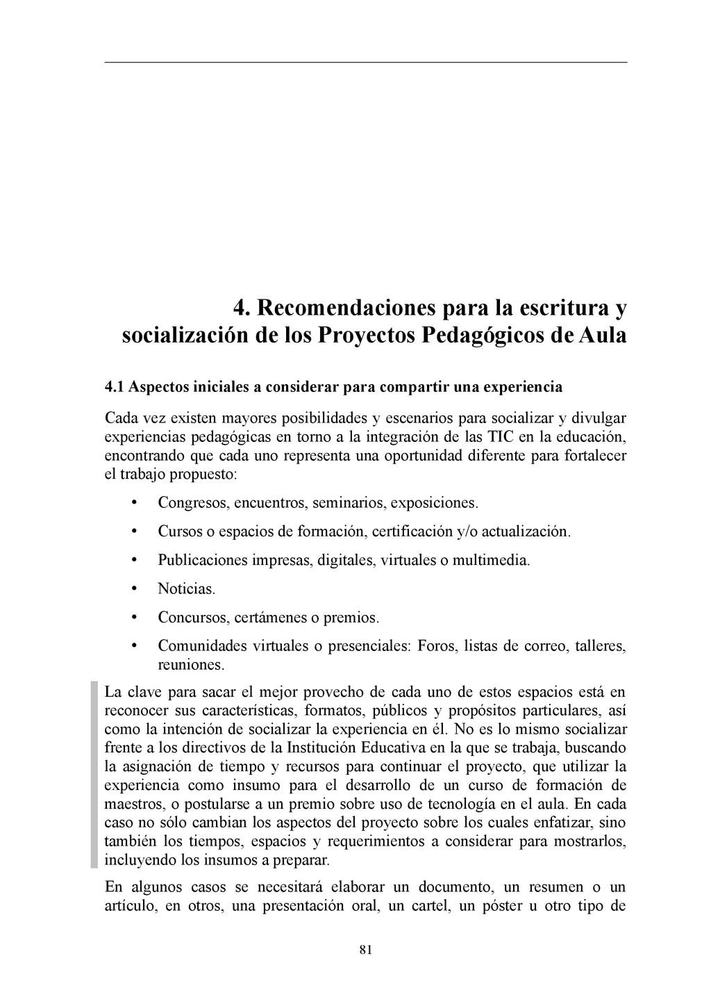 4. Recomendaciones para la escritura y socializ...