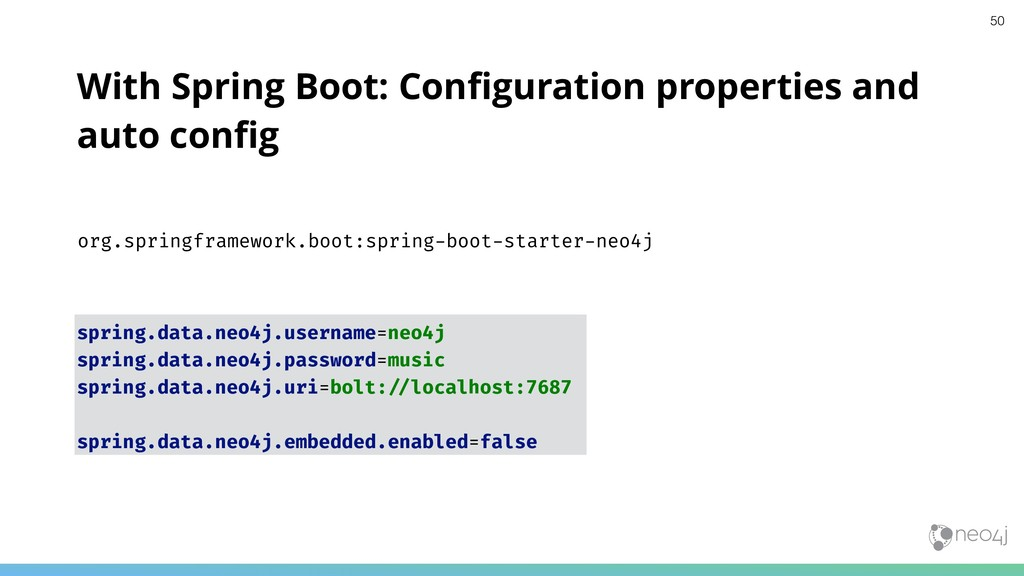 With Spring Boot: Configuration properties and a...