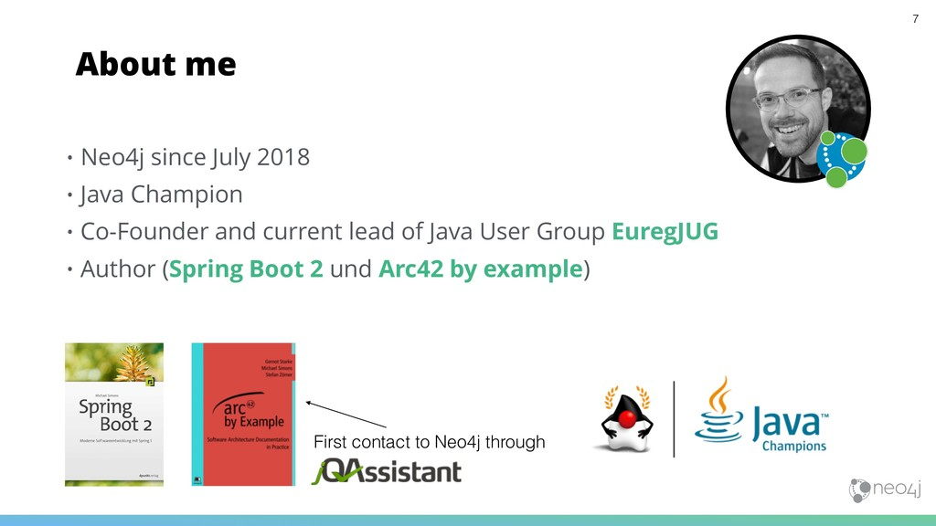 • Neo4j since July 2018 • Java Champion • Co-Fo...