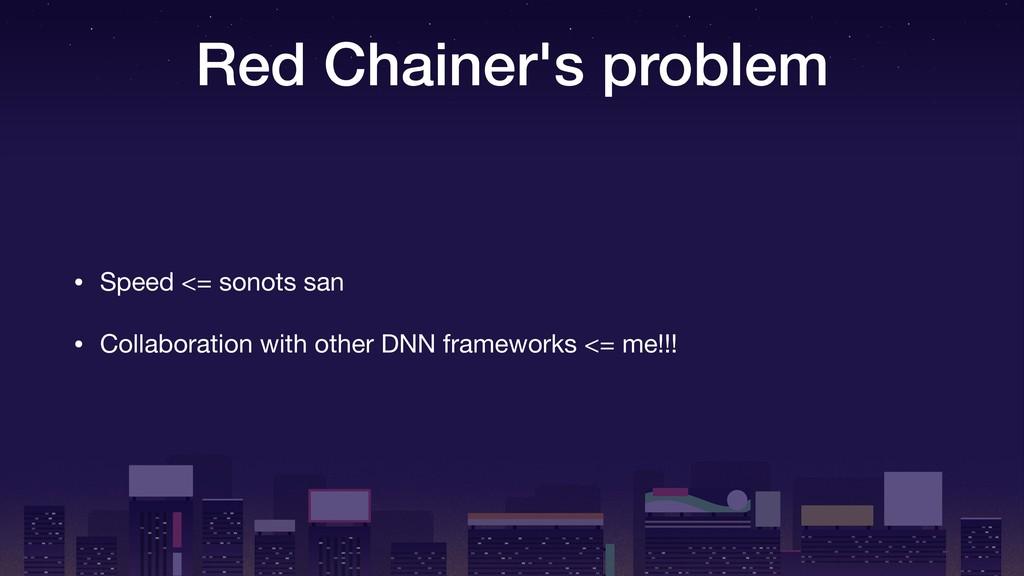 Red Chainer's problem • Speed <= sonots san  • ...