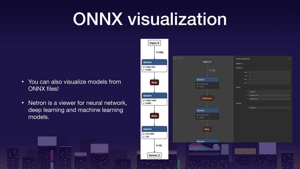 ONNX visualization • You can also visualize mod...