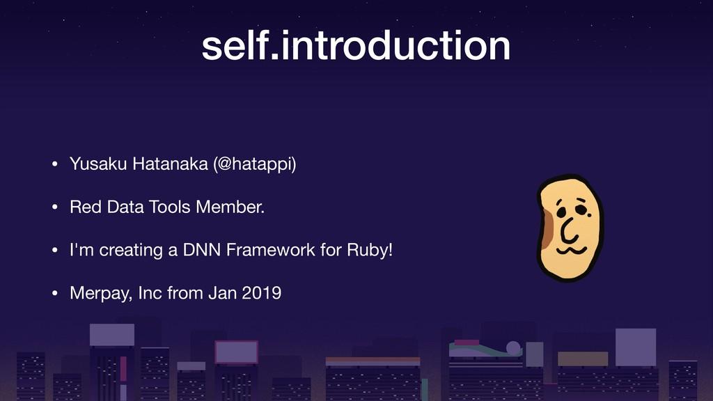 self.introduction • Yusaku Hatanaka (@hatappi) ...