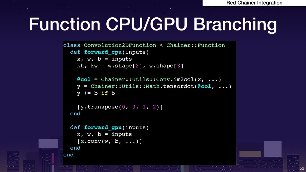 Function CPU/GPU Branching !53 Red Chainer Inte...