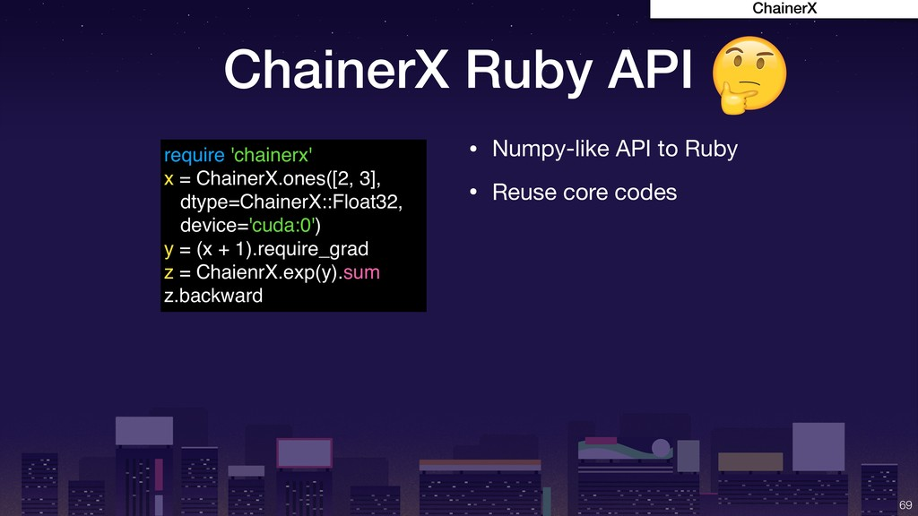 ChainerX Ruby API !69 require 'chainerx' x = Ch...