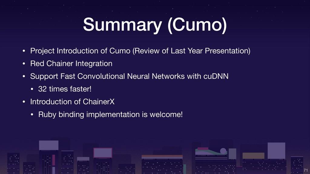 Summary (Cumo) !71 • Project Introduction of Cu...