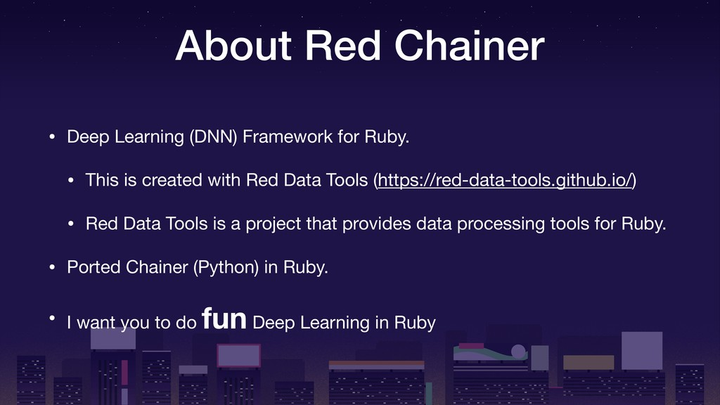 About Red Chainer • Deep Learning (DNN) Framewo...