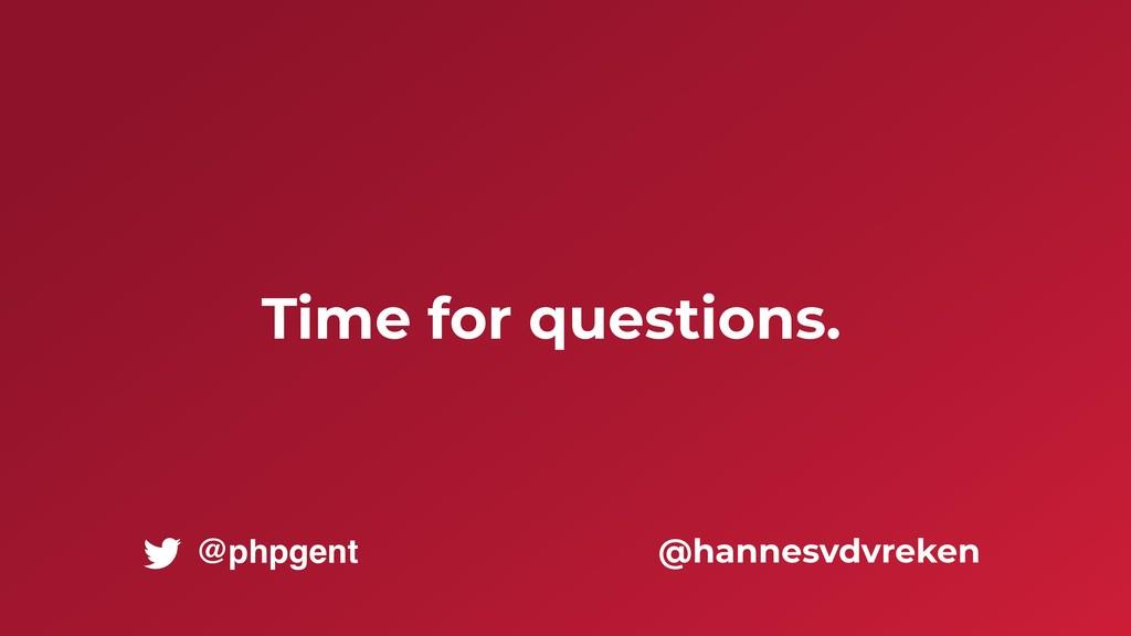 Time for questions. @hannesvdvreken @phpgent