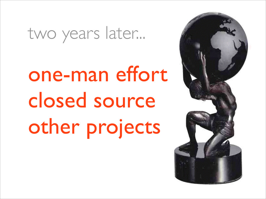 one-man effort closed source other projects t...