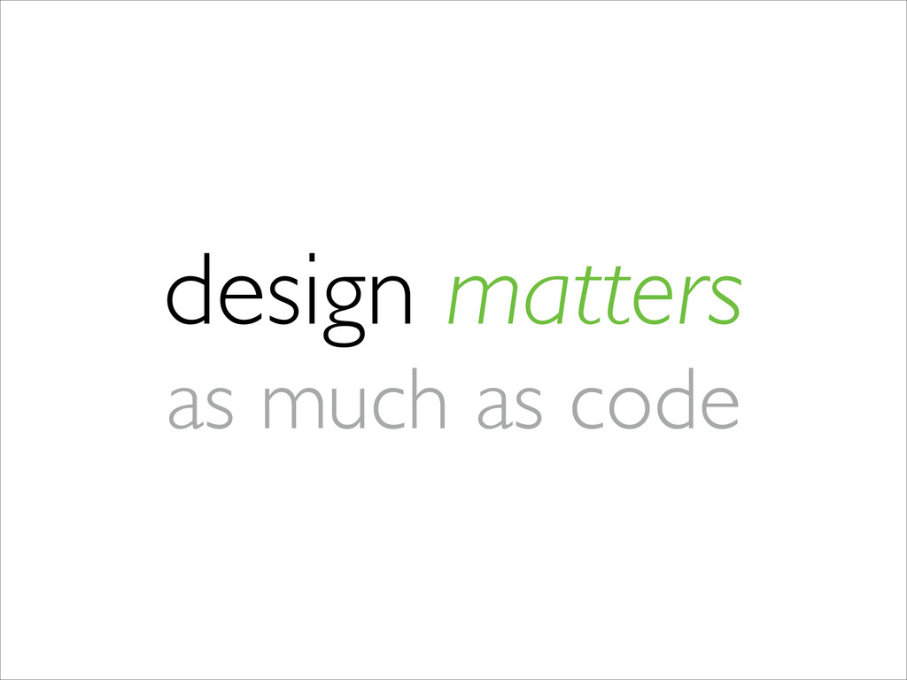 design matters 	 