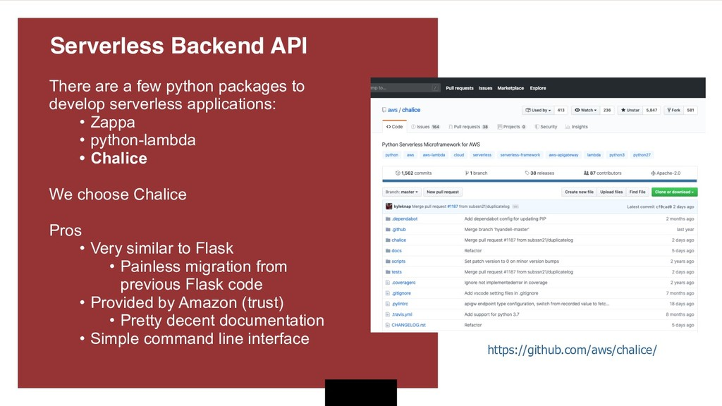 There are a few python packages to develop serv...