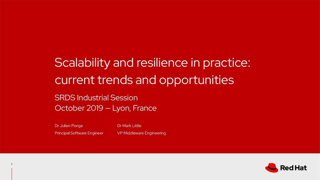 SRDS Industrial Session October 2019 — Lyon, Fr...