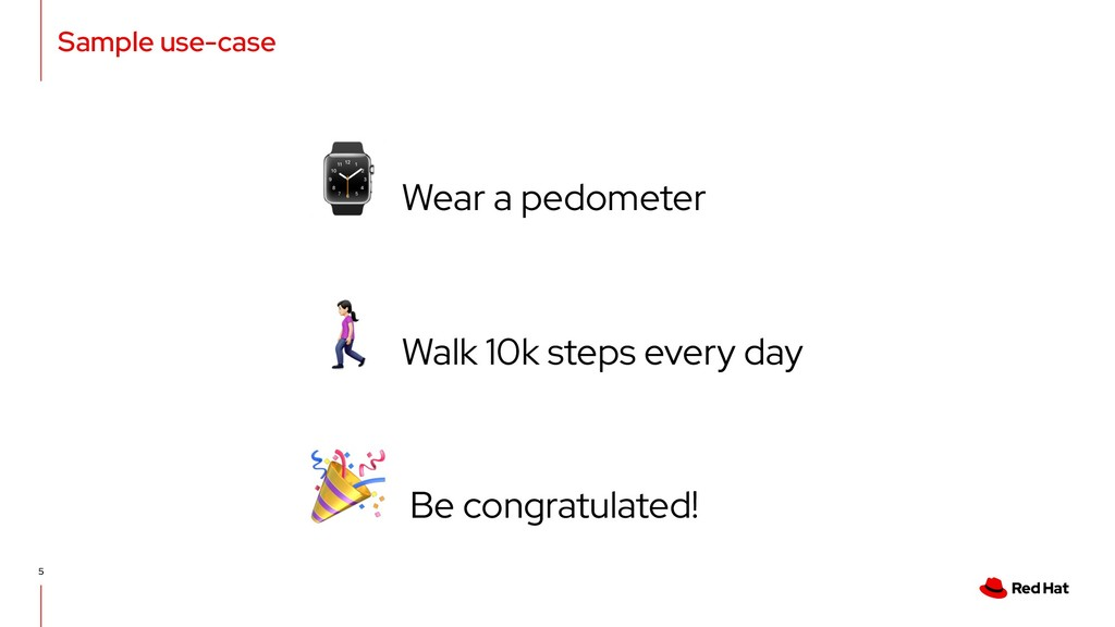 "Sample use-case 5 "" Walk 10k steps every day ⌚ ..."