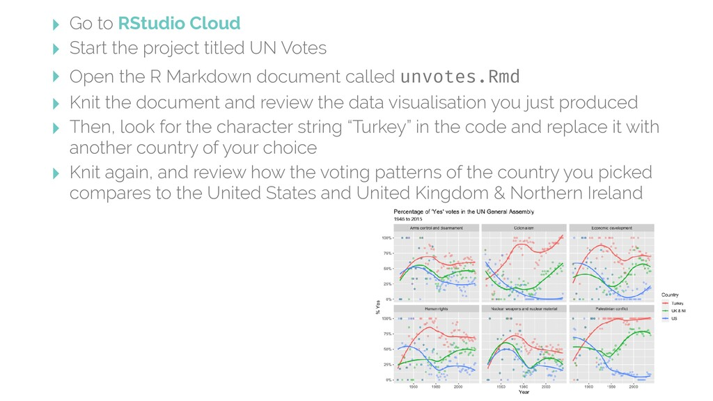 ‣ Go to RStudio Cloud ‣ Start the project title...