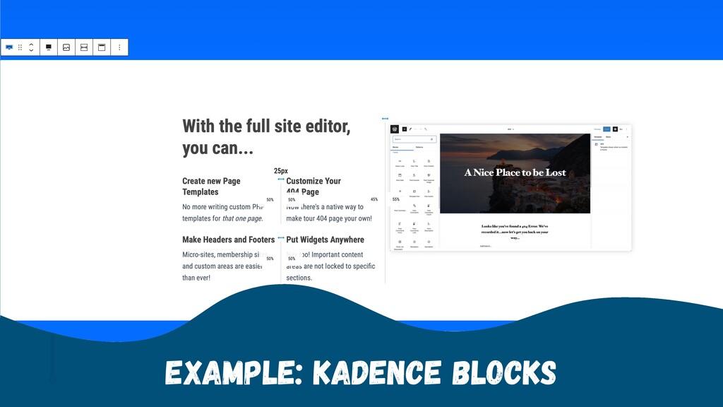 Example: Kadence Blocks