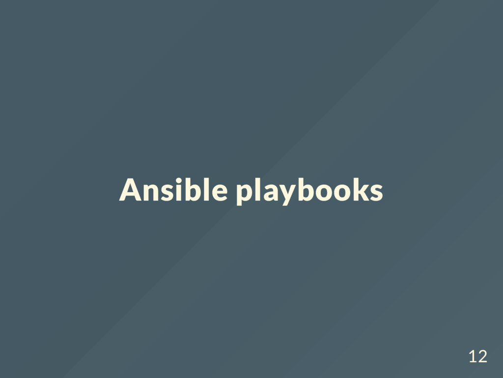 Ansible playbooks 12