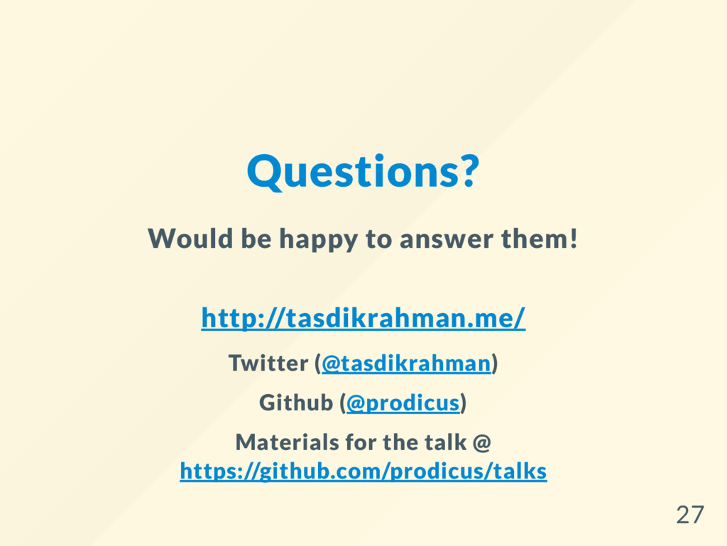 Questions? Would be happy to answer them! http:...