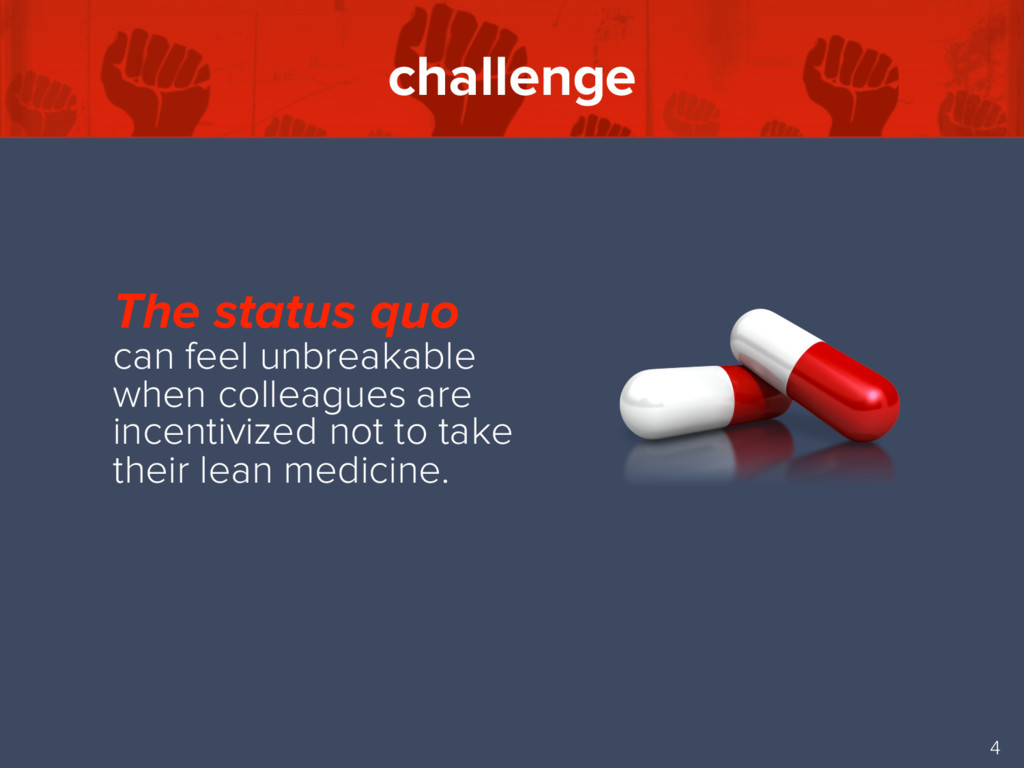 challenge 4 The status quo can feel unbreakable...