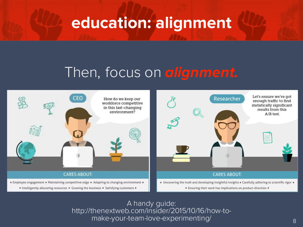 education: alignment 8 Then, focus on alignment...