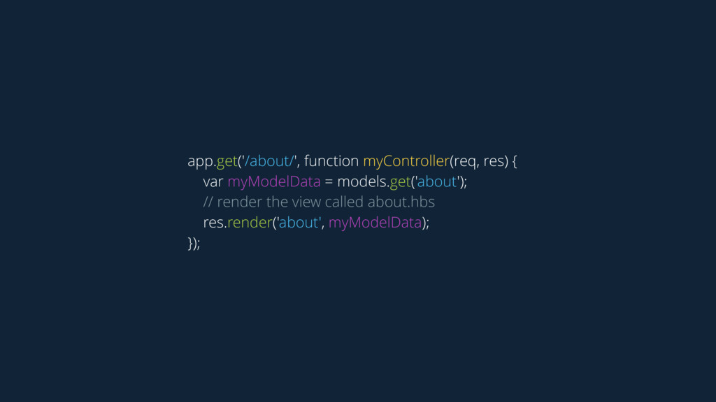 app.get('/about/', function myController(req, r...
