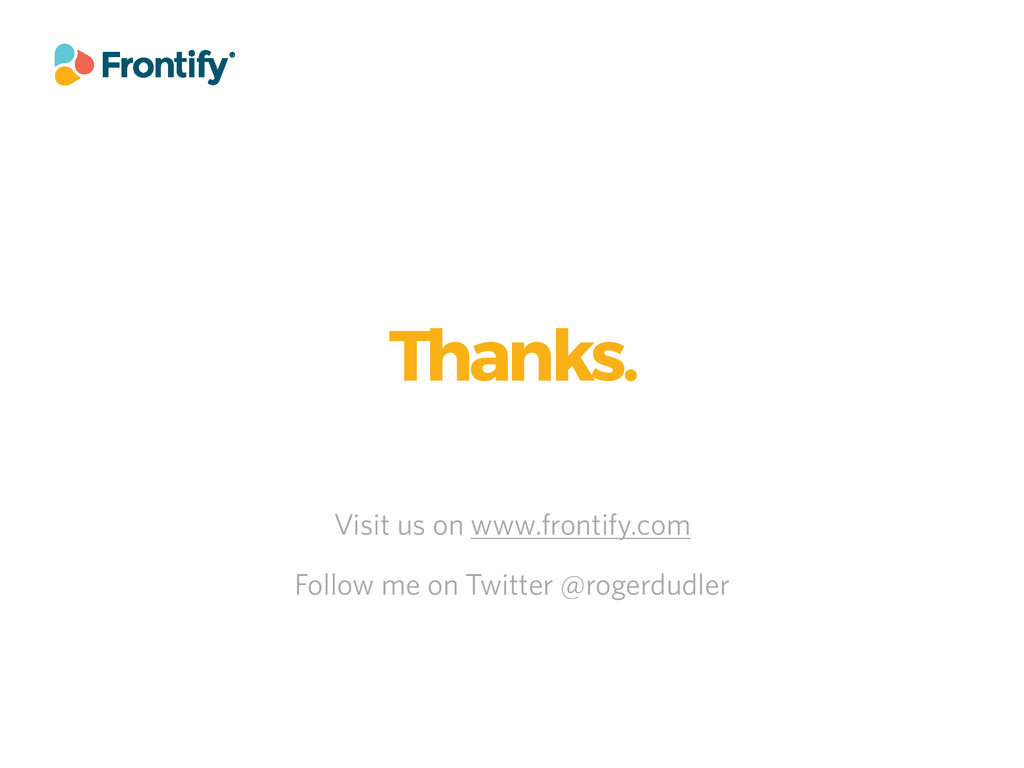 Visit us on www.frontify.com Thanks. Follow me ...