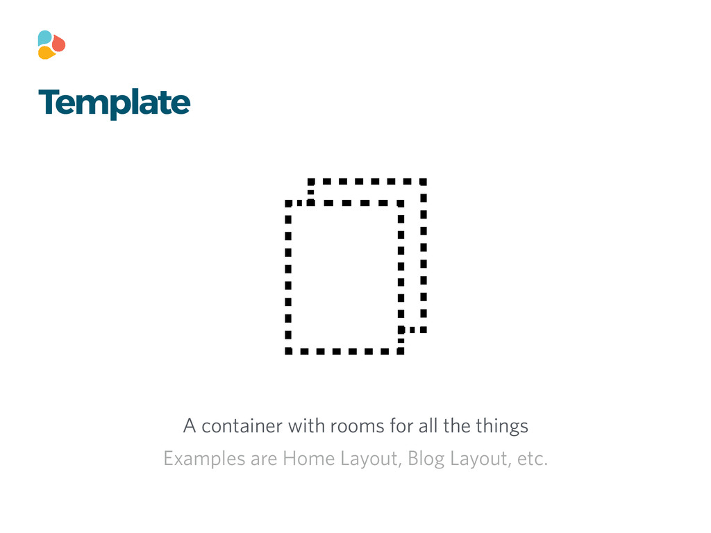 Template A container with rooms for all the thi...